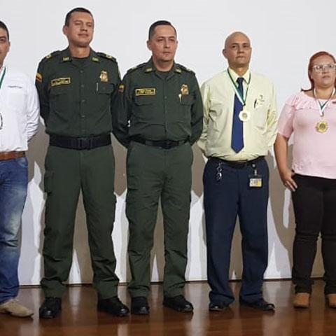 Reconocimiento por parte de la Policia Nacional en la red de apoyo